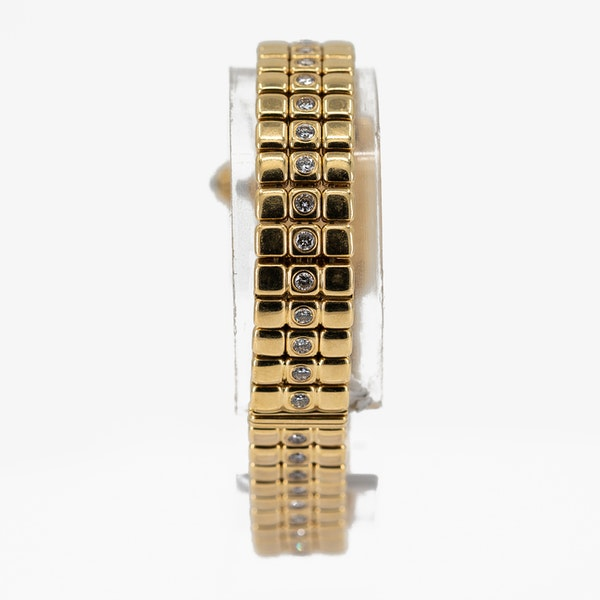 Cartier Ladies Gold and Diamond Set Wristwatch Offered By The Gilded Lily - image 4