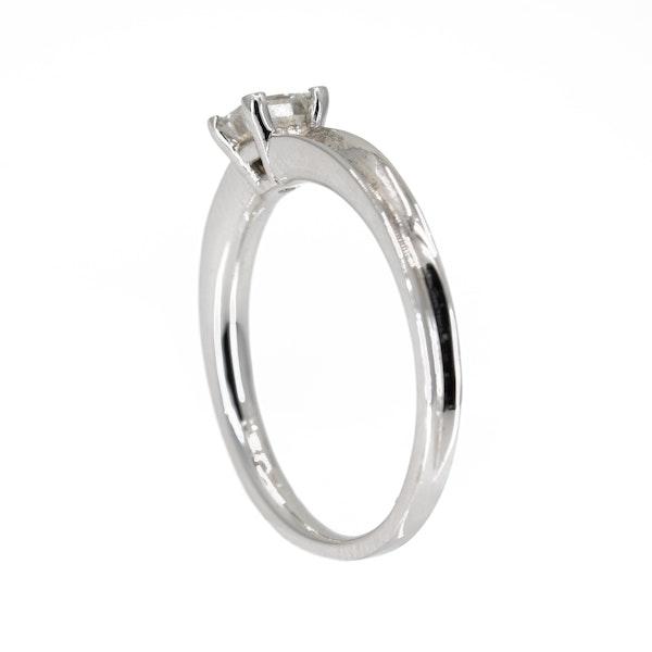 Diamond solitaire ring, princess cut, 0.50 ct est. - image 3