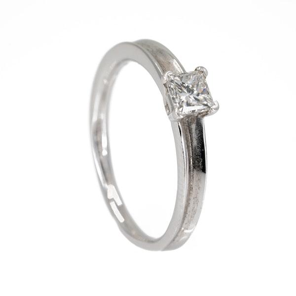 Diamond solitaire ring, princess cut, 0.50 ct est. - image 2