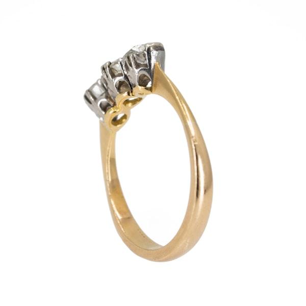 3 stone diamond ring, 1.20 ct total est. - image 3