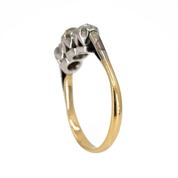 3 stone diamond ring, total 0.65 ct est. - image 3