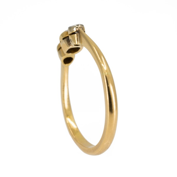 Edwardian 3 stone diamond ring, 0.50 ct total est. - image 3