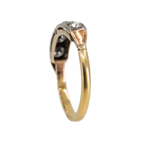 Edwardian 5 stone diamond ring, 0.70 ct total est. - image 3