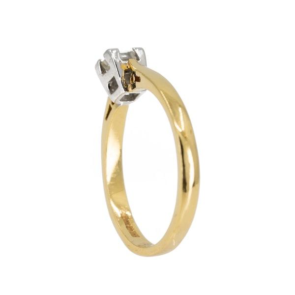 Square diamond solitaire ring, 0.25 ct est. - image 3