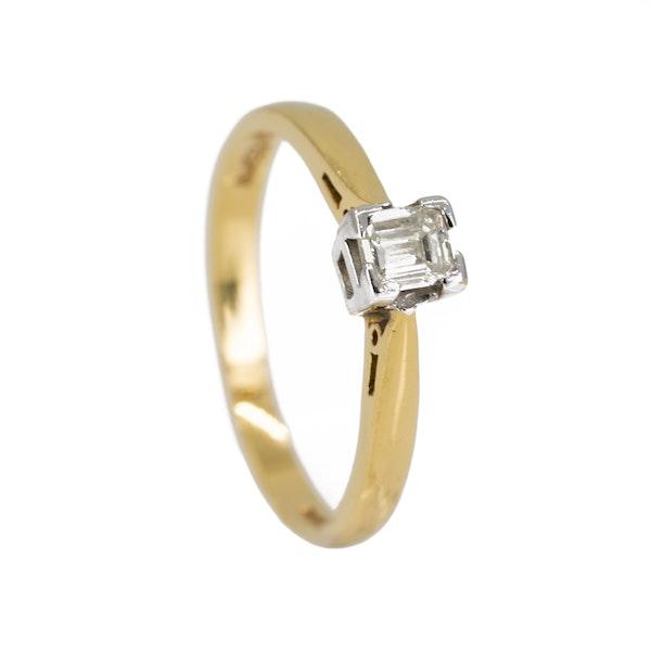 Square diamond solitaire ring, 0.25 ct est. - image 2
