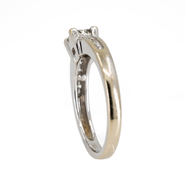 Diamond square cluster ring with diamond shoulders - image 3