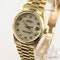 Rolex Datejust. 31mm case. Model 68278 Midsize 18K Yellow Gold with President Bracelet. Year 1994 - image 3