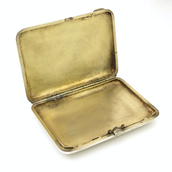 Russian silver gild and cloisonné enamel cigarette case, Moscow 1890s by BиK - image 3