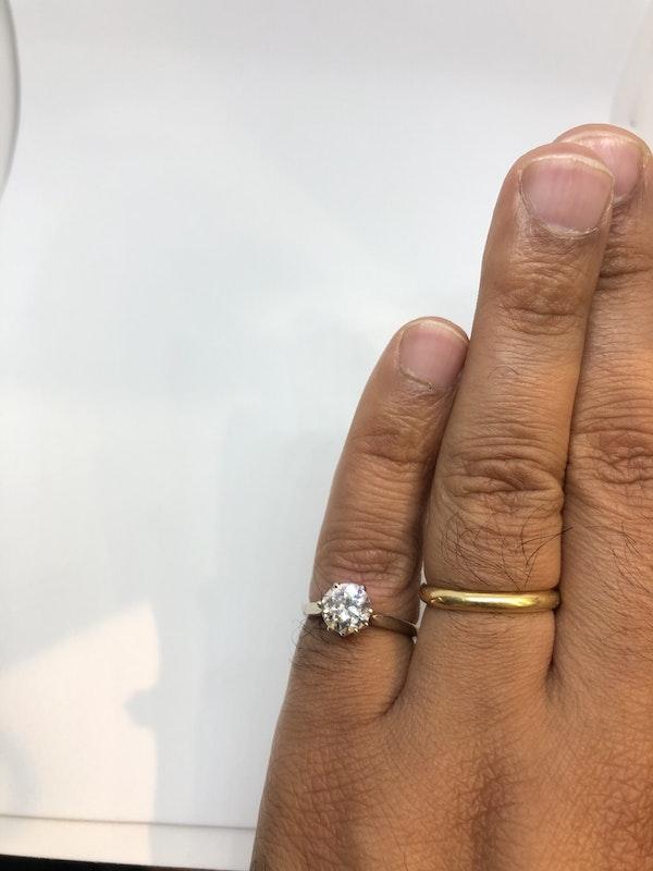 1.3ct Antique single solitaire diamond ring - image 4