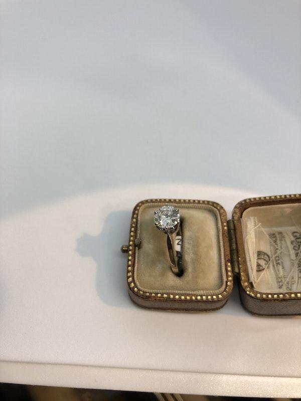 1.3ct Antique single solitaire diamond ring - image 2