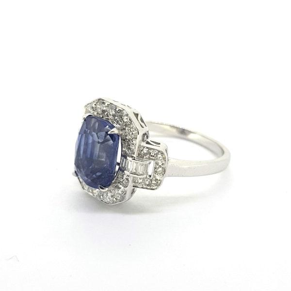 Sapphire & Diamond Dress Ring - image 3