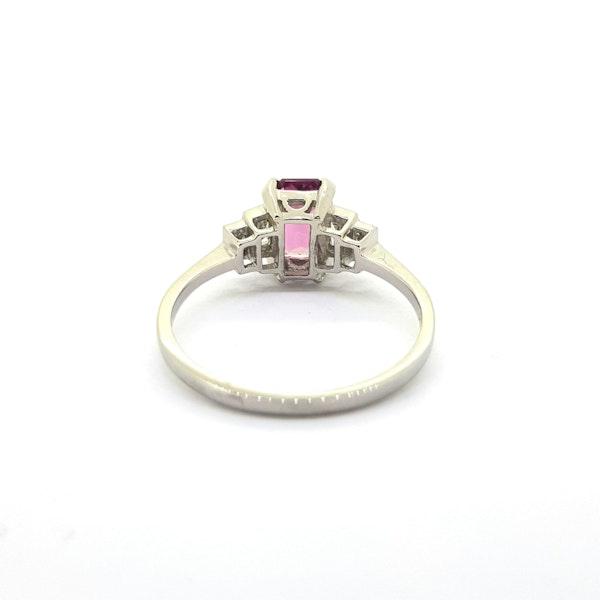Pink Tourmaline and Diamond Ring - image 4
