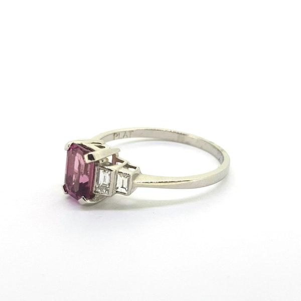 Pink Tourmaline and Diamond Ring - image 3
