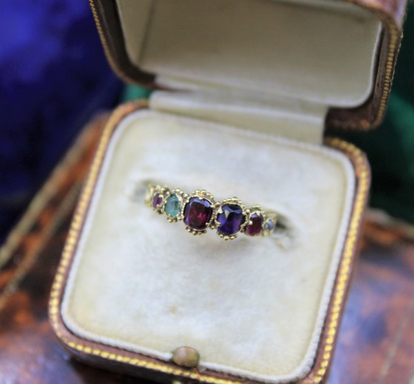 """A very fine example of an early Victorian Gem set """"Regard"""" Ring set in High Carat Yellow Gold, English, Circa 1850 - image 1"""