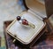 A very fine Victorian Pear Shaped Red Garnets, Pearls and Diamonds Ring set in High Carat Yellow Gold, English, Circa 1870 - image 3