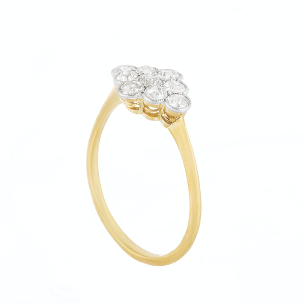 A Nine Stone Diamond Ring - image 4