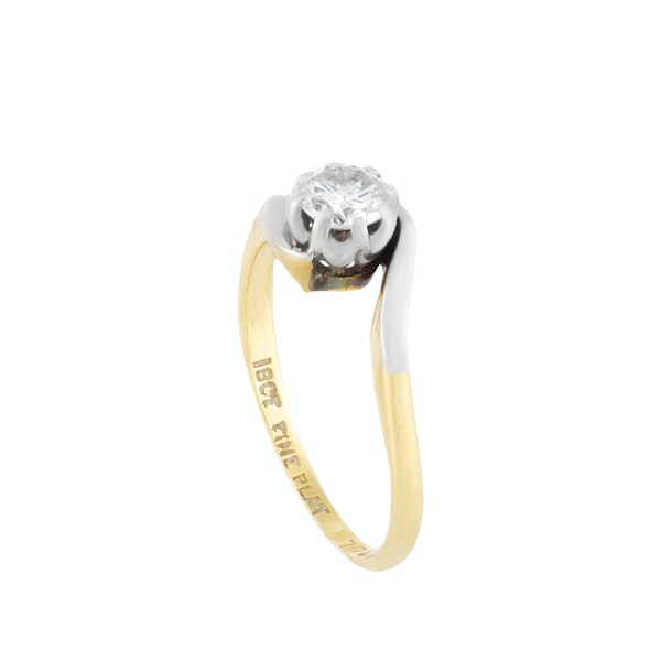 An Antique One Stone Diamond ring - image 4