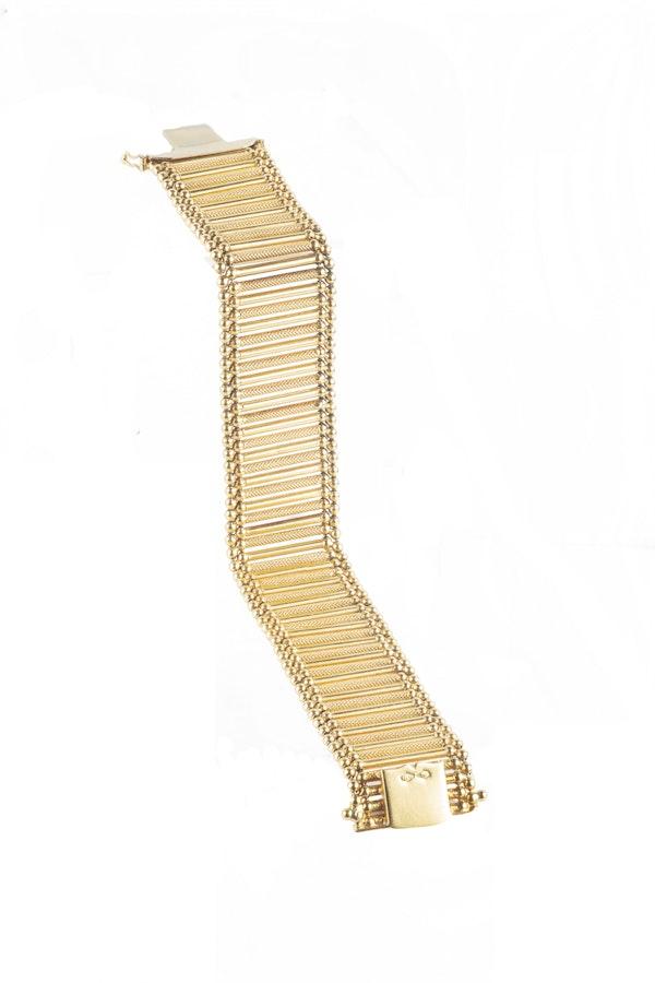 An Eighteen Carat Gold Italian Bracelet by Giulio Marotto - image 2