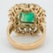 Large emerald and diamond cluster  ring - image 3