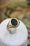 A very fine Bloodstone Signet Ring mounted in 9ct Yellow Gold (Hallmarked), English, Circa 1978 - image 1