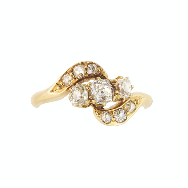 A Nine Stone Diamond Ring - image 3