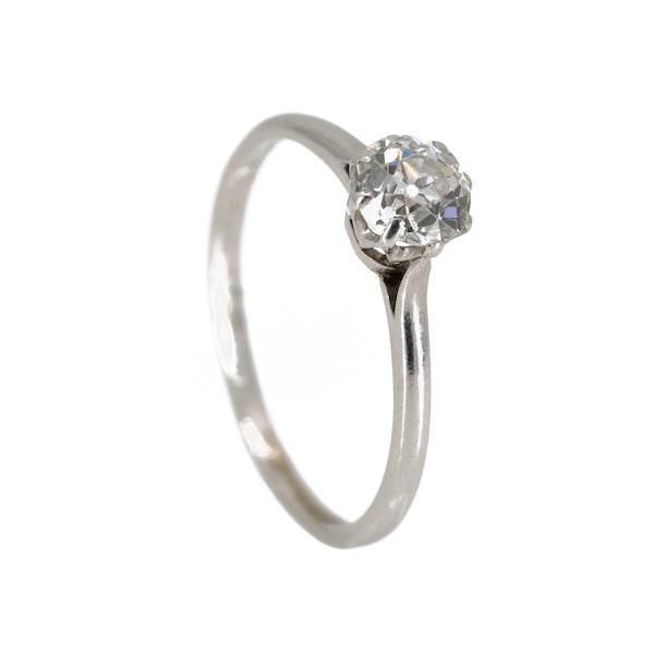 Diamond solitaire ring set in platinum - image 2