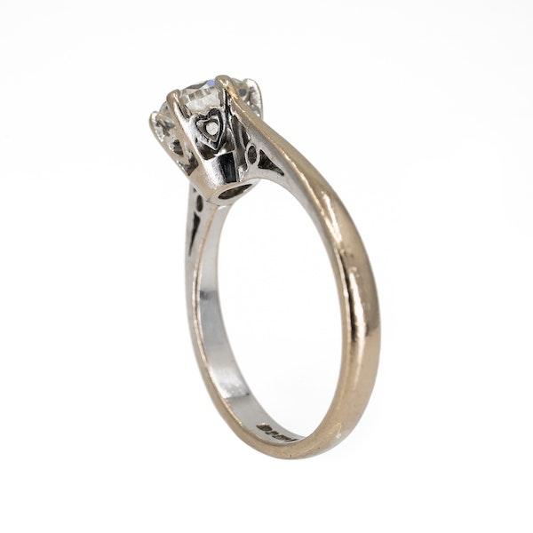 Diamond solitaire ring, 1.1 ct est. - image 3