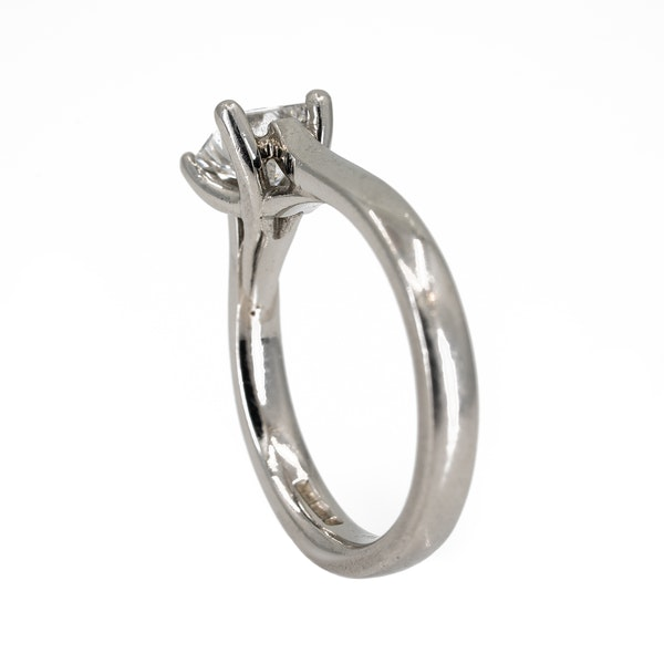 Diamond solitaire ring, princess cut. Certificated - image 3