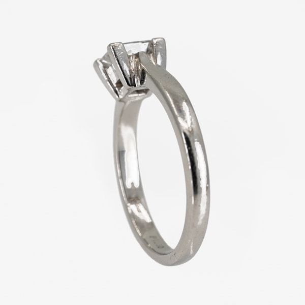 Diamond solitaire ring, princess cut, 0.71 ct - image 3