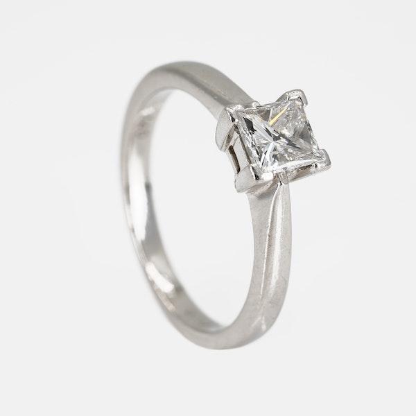 Diamond solitaire ring, princess cut, 0.71 ct - image 2