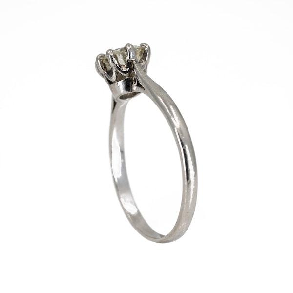 Diamond solitaire ring in platinum 0.75 ct est. - image 3