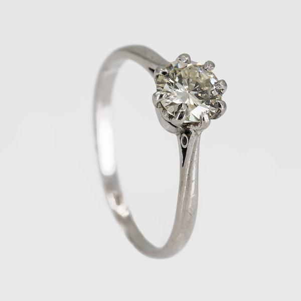 Diamond solitaire ring in platinum 0.75 ct est. - image 2