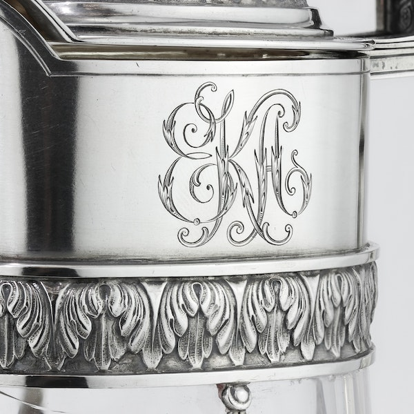 Russian Faberge silver and crystal cut glass Claret Jug, Moscow c.1900 - image 7