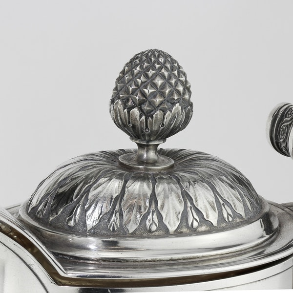 Russian Faberge silver and crystal cut glass Claret Jug, Moscow c.1900 - image 4