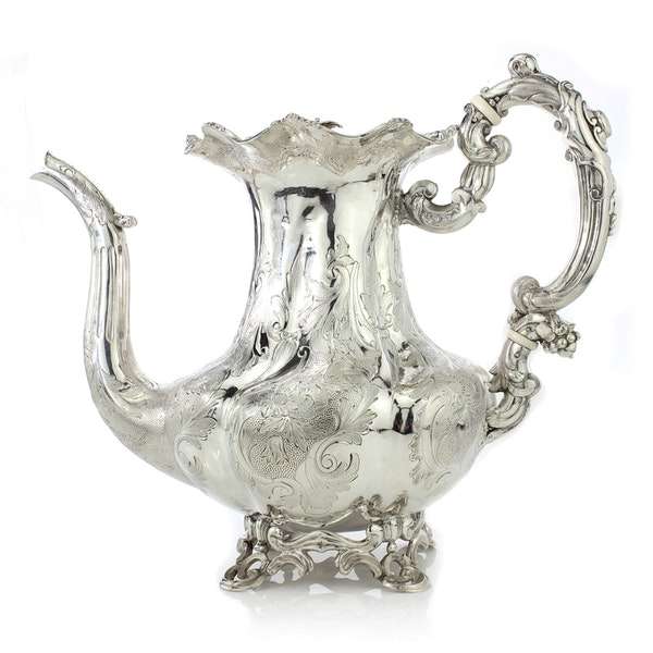 Russian silver 5 pieces Coffee and Tea set, St. Petersburg, 1844 - image 9