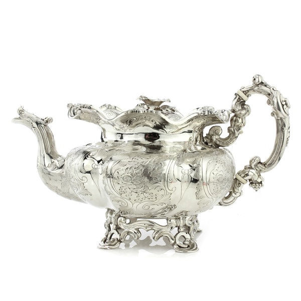 Russian silver 5 pieces Coffee and Tea set, St. Petersburg, 1844 - image 10