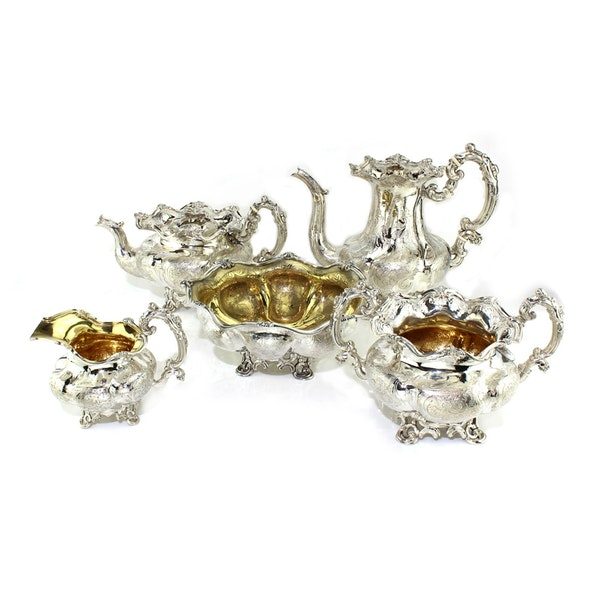 Russian silver 5 pieces Coffee and Tea set, St. Petersburg, 1844 - image 6
