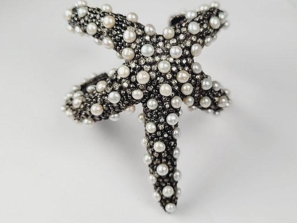 Diamond and pearl Starfish bangle sku 4946  DBGEMS - image 2