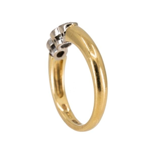 3 stone diamond ring, 0.6 ct total est. - image 3