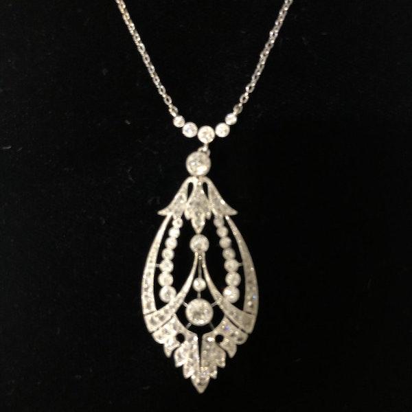 Edwardian Diamond Pendant - image 3