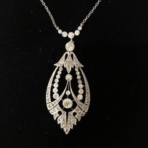 Edwardian Diamond Pendant - image 1