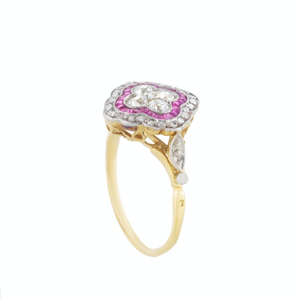An Art Deco Ruby and Diamond Ring - image 4