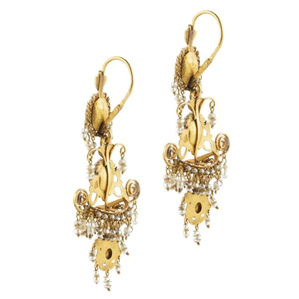 A pair of Italian Georgian Chandelier Earrings - image 2