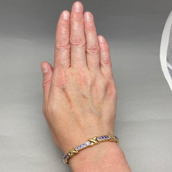 Tanzanite Bracelet in 14ct Gold SHAPIRO & Co since1979 - image 2