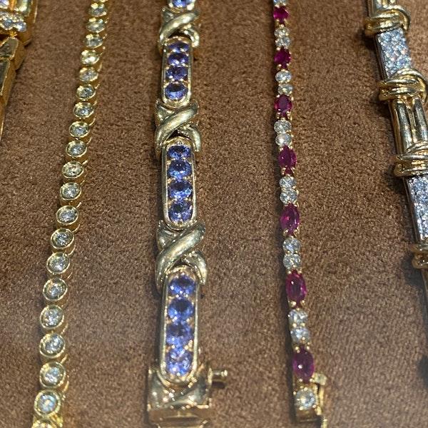 Tanzanite Bracelet in 14ct Gold SHAPIRO & Co since1979 - image 10