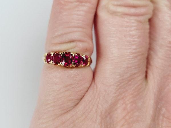 Gem Antique ruby ring sku 4955  DBGEMS - image 2