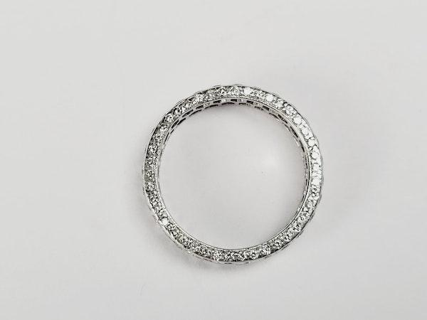 Art deco two row eternity ring sku 4956 DBGEMS - image 2