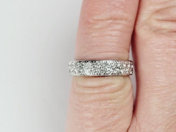 Art deco two row eternity ring sku 4956 DBGEMS - image 4