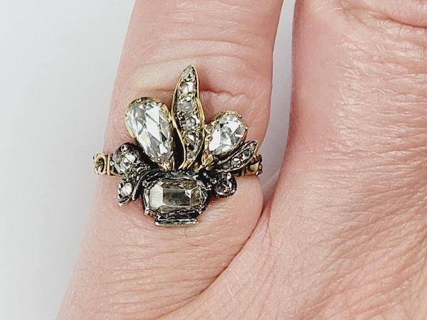 Antique diamond giardinetti ring sku 4950 DBGEMS - image 4