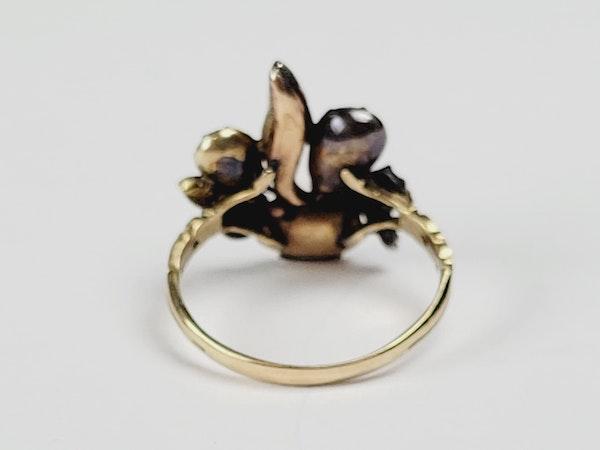 Antique diamond giardinetti ring sku 4950 DBGEMS - image 3